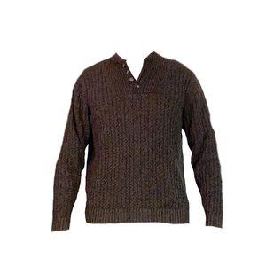 Eddie Bauer Men's Crewneck Woven Sweater Gray